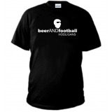 T-SHIRT BEER AND FOOTBALL