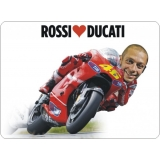 TAPPETINO MOUSE I LOVE VALENTINO ROSSI THE DOCTOR